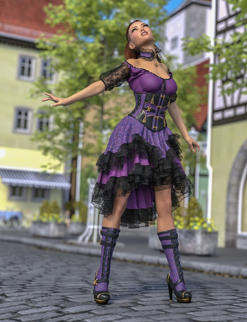 dForce Vernea Fae Outfit for Genesis 8 Female