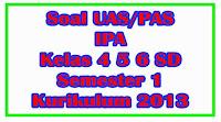 soal uas ipa kelas 4 5 6 semester 1 kurikulum 2013