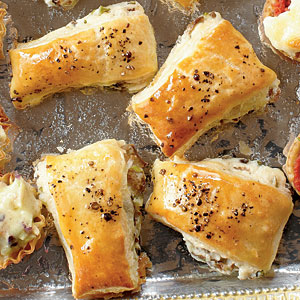 these puff pastry mushroom bites are a perfect party appetizer to please a crowd