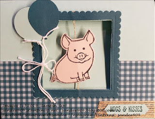 Easy Handmade Card Using This Little Piggy Stampin Up Stamp Set