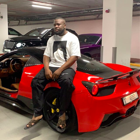 Nigerian millionaire Big Boy Hushpuppi acquires brand new Ferrari (photos)