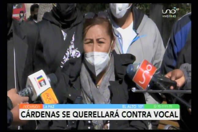 Guadalupe Cádenas se querellará contra vocal René Delgado, juez que apoya la habilitación de Evo