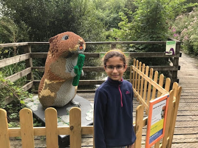 Lego squirrel model at WWT Arundel