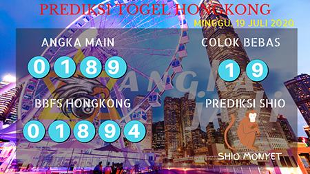 Prediksi Angka Jitu Togel Hongkong HK Minggu 19 Juli 2020
