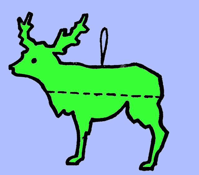 Как сделать новогоднего оленя
