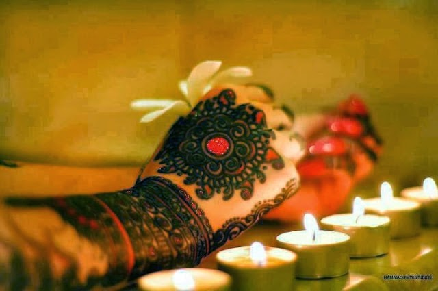 Stylish Tikka Mehndi Designs For Hands 2014