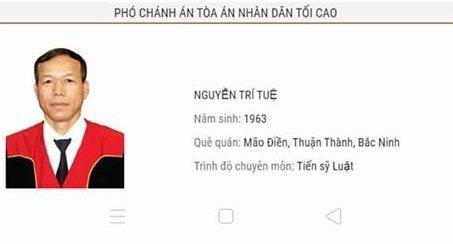 Quốc Hội cần có ý yến và phán ngôn của ông phó chánh án TANDTC - Nguyễn Trí Tuệ