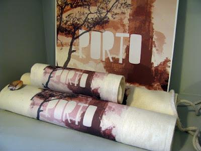 sacos de tecidos com imagem do Porto