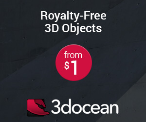 royalty free 3D objects and files in 3docean envato 3d files market