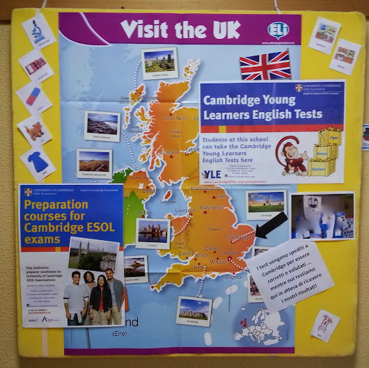 Classroom display: Cambridge Young Learners English Tests