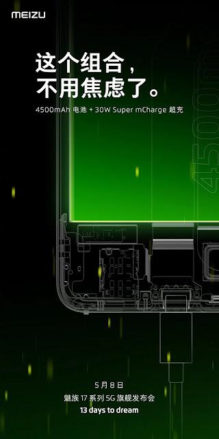 Meizu 17, 90Hz yenileme hızı ekranına ve 30W hızlı şarj desteğine sahip!