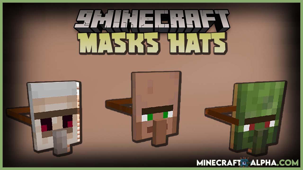Minecraft Masks Hats Mod For 1.16.5 (Headgear And Masks)