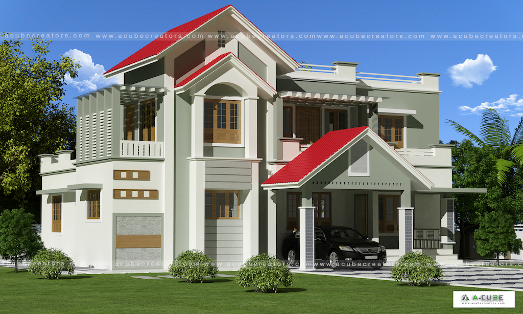 Kerala home design double floor 3BHK