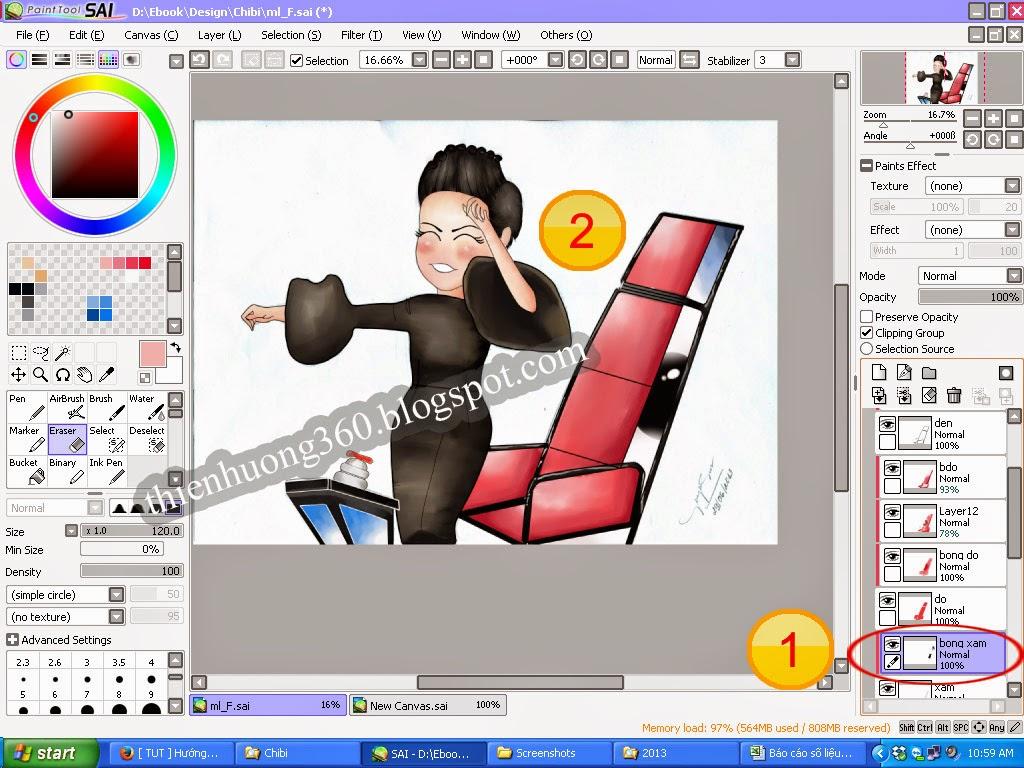 Vẽ Chi bi bằng Paint tool SAI