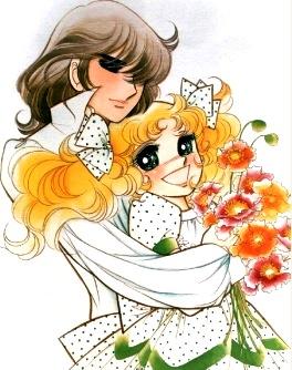 Dibujo de Terry abrazando con amor a Candy