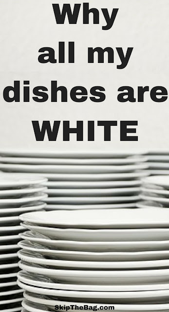 Reasons why white dishes are superior to colored or patterned dishes.