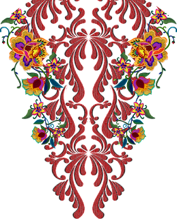 Damask-textile-patch-design-7005