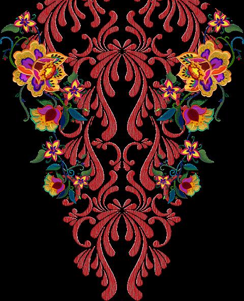 Damask-textile-patch-design-7005