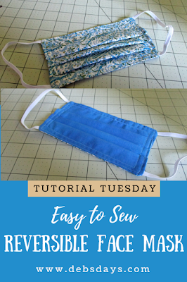 Easy to Sew Reversible Pleated Cloth Face Mask Sewing Project