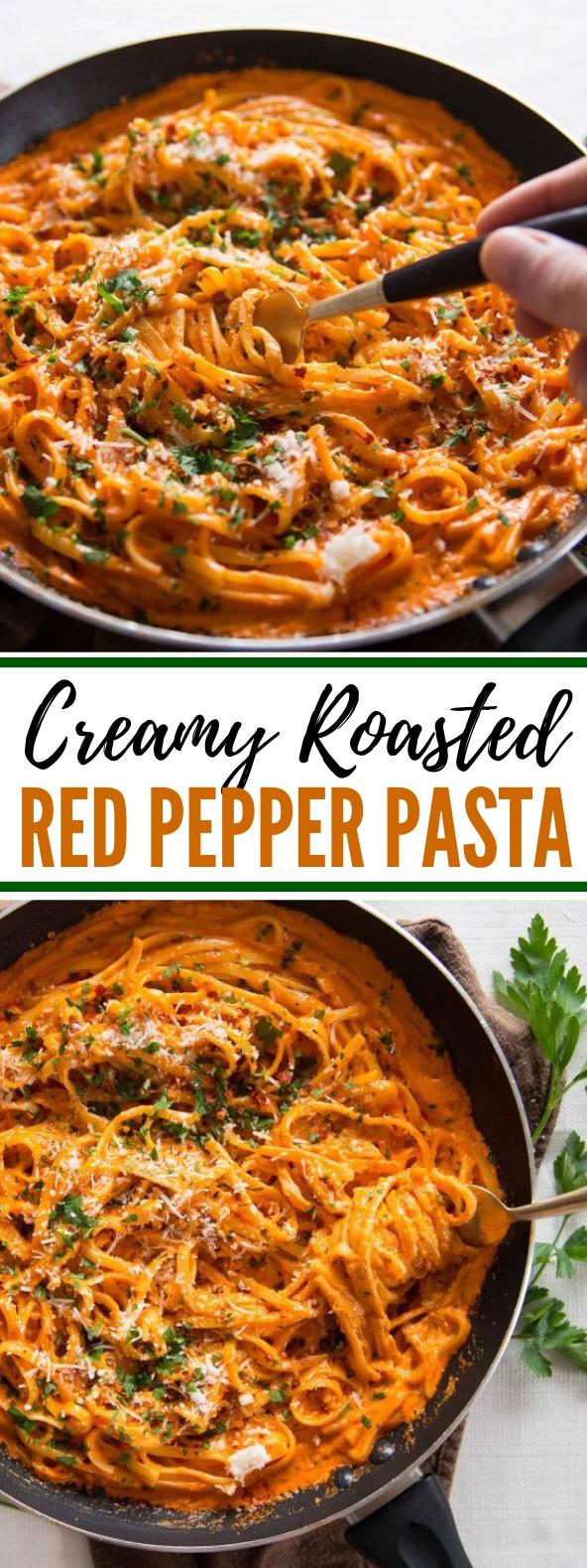 Creamy Roasted Red Pepper Pasta #dinner #familyrecipe