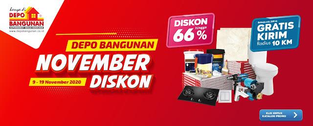 #DepoBangunan - #Promo November Diskon Hingga 66% & Gratis Ongkos Kirim (s.d 19 Nov 2020)