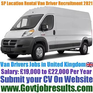 SP Location Rental Van Driver Recruitment 2021-22