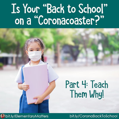"Is Your ""Back to School"" on a ""Coronacoaster?"" Part 4:Teach Them Why!  Children's lives have been disrupted by this virus. They need to understand why. This blog post has a few suggestions."