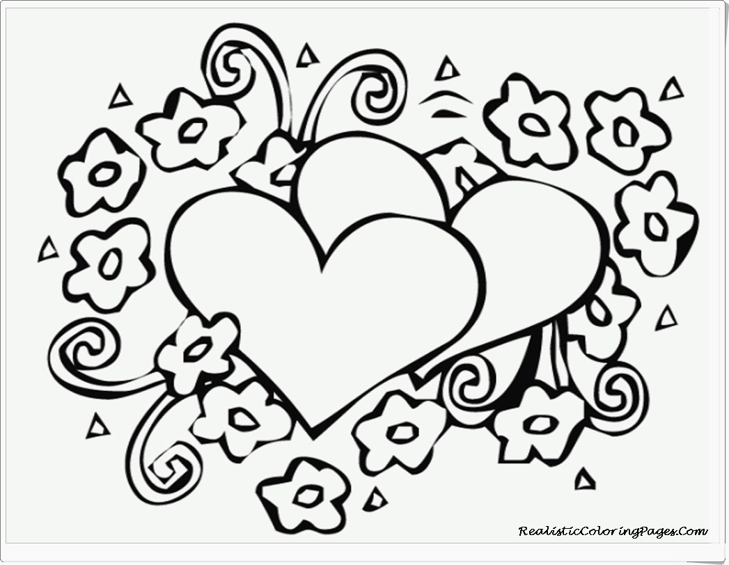 Valentines Hearts Free Printable Coloring Pages