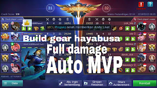 Build gear hayabusa full damage auto MVP