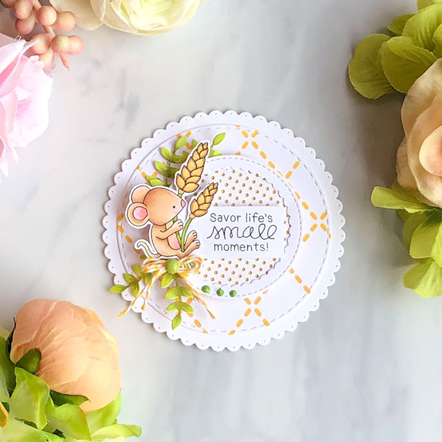 Life's Small Moments Circle Card by October Guest Designer Allison Arbour | Autumn Mice Stamp Set by Newton's Nook Designs #newtonsnook #handmade