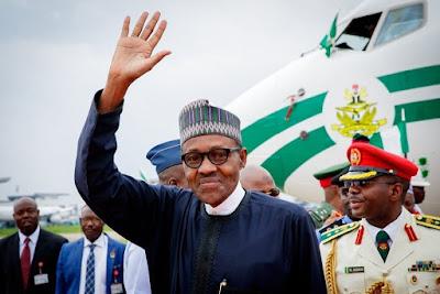 President Buhari, Govs Ikpeazu, Bello, Abiodun, Others Depart Nigeria