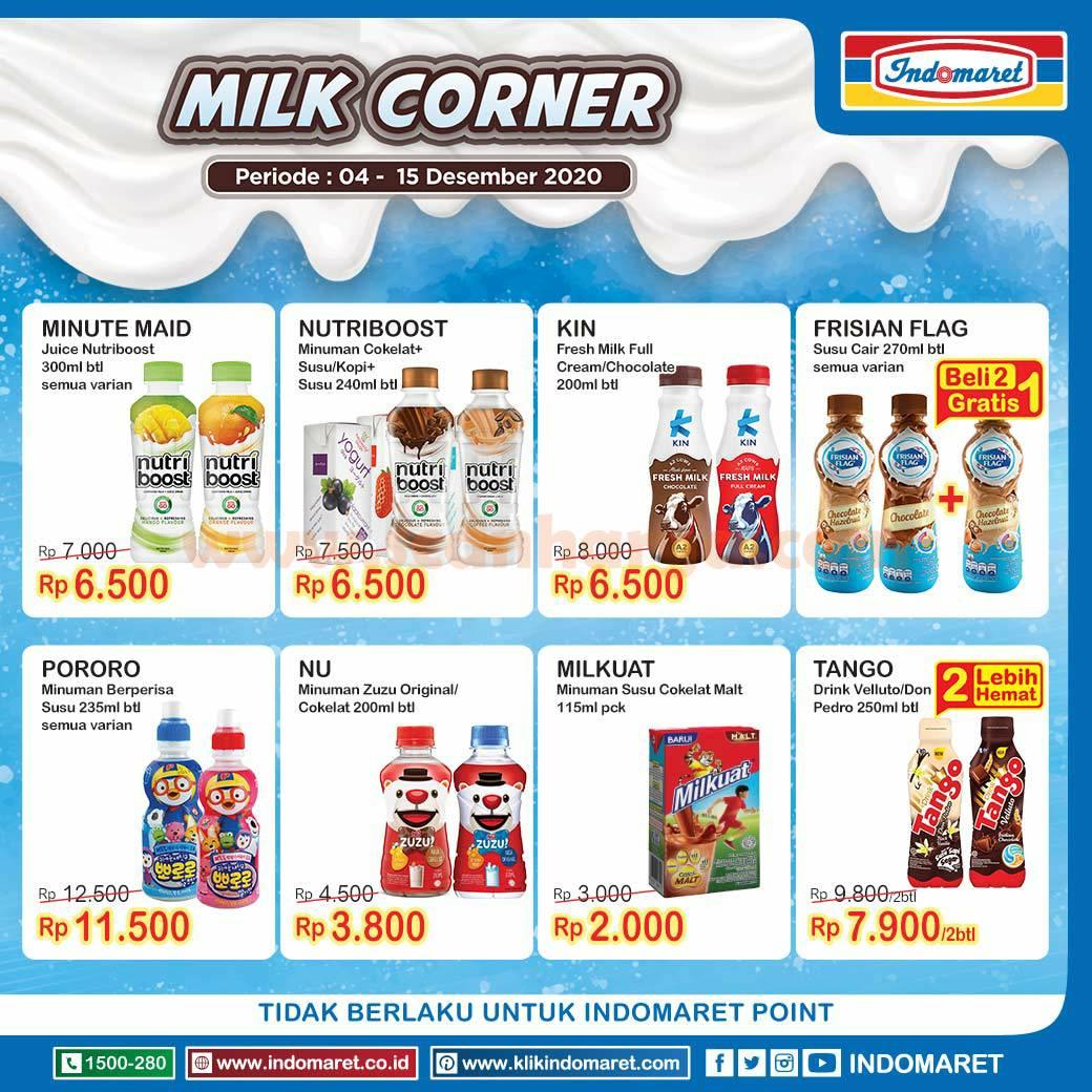INDOMARET Promo Milk Corner Periode 4 - 15 Desember 2020