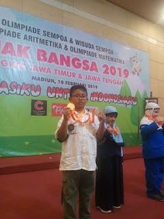 MIN 2 Kota Madiun Juara Olimpiade Matematika  Anak Bangsa 2019