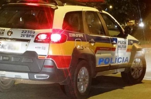 Moto com placa adulterada é apreendida após bater em viatura Policial em Elói Mendes-MG