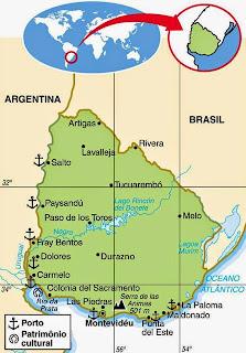Uruguay | Geografiske Kort over Uruguay