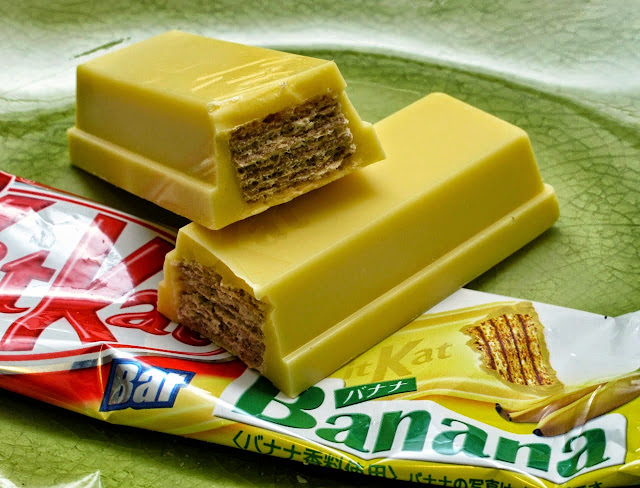 كيت كات  (Kit Kats ) مغلف بطبقة من الموز