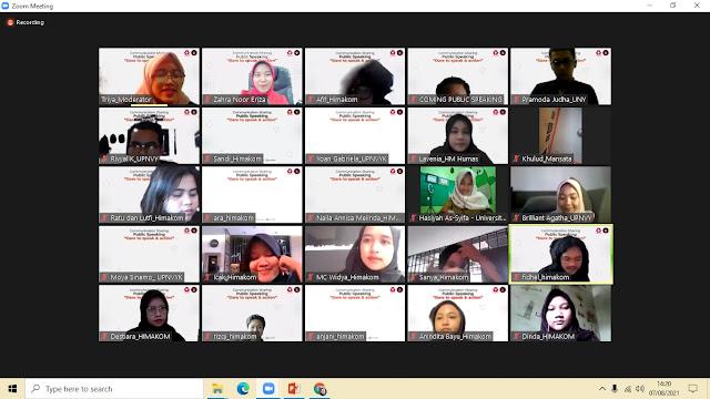WEBINAR PUBLIC SPEAKING UPN VETERAN YOGYAKARTA