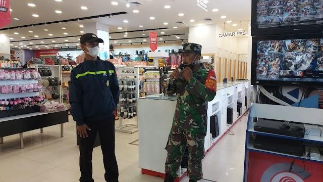 Polsek Bagan Sinembah Himbau Pengelola Mall Suzuya dan Pengunjung Jaga Jarak dan Pakai Masker
