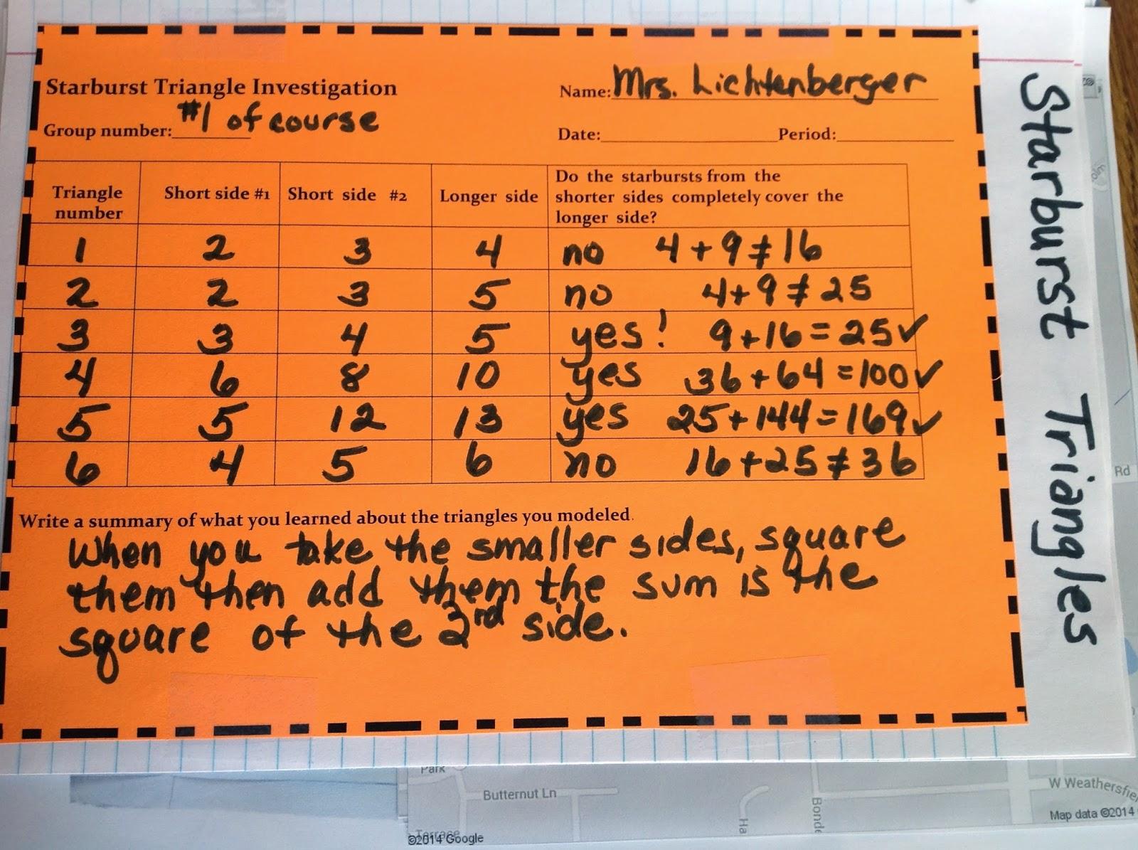 Equation Freak A Peek At My Pythagorean Theorem Unit