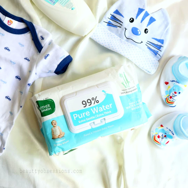 Mother Sparsh 99% Pure Water Baby Wipes
