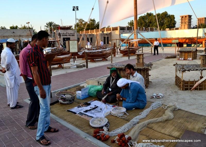 Dubai Cultural Tour: fishing village at Dubai Heritage Village