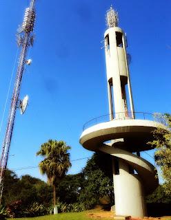 Antenas de TV, no Morro Cechinel ou Morro da TV, em Criciúma