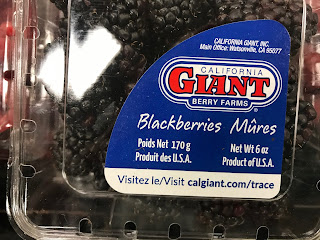 Blackberries grown in California and sold in Indiana