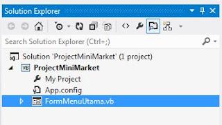 Membuat Project Baru Aplikasi Mini Market VB .Net 2012