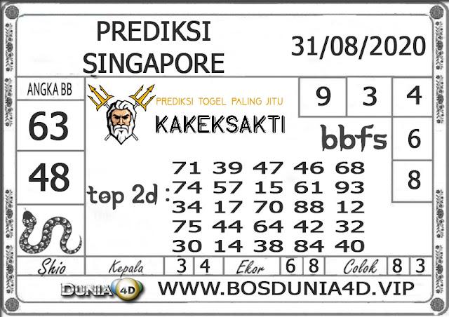 Prediksi Togel SINGAPORE DUNIA4D 31 AGUSTUS 2020