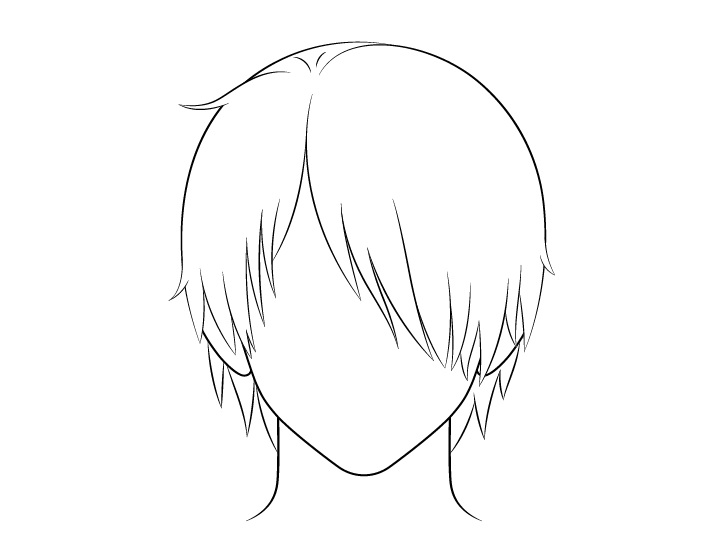 Rambut pria anime lebih dari satu gambar garis mata