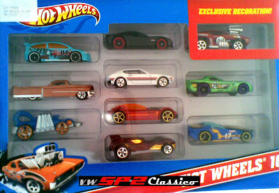 Hot Wheels - Pack com 10 carrinhos
