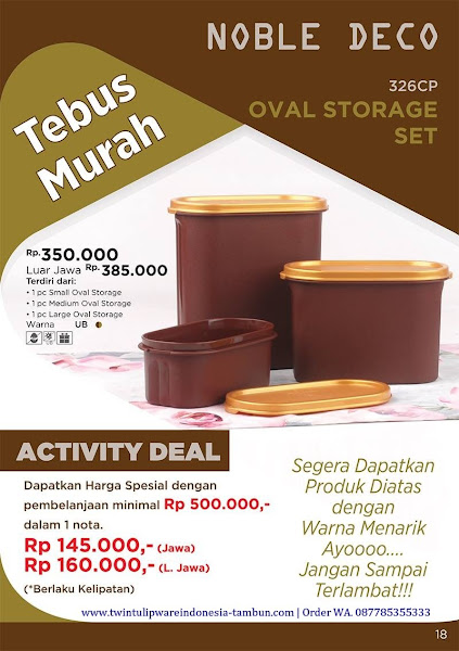 Tebus Murah Oktober 2017, Noble Deco, Oval Storage Set