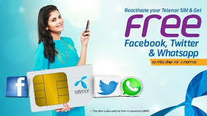 telenor-offers-free-facebook-twitter
