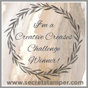 Winner @ Creative Creases